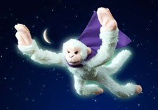 Glow in the Dark Flying Snow Monkey