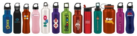 Aluminum and Stainless Steel Water Bottles